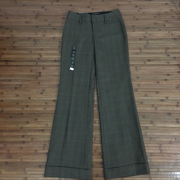 Size 6P NWT Banana Republic Women Jackson-Fit Charcoal Tailored Twill Trouser